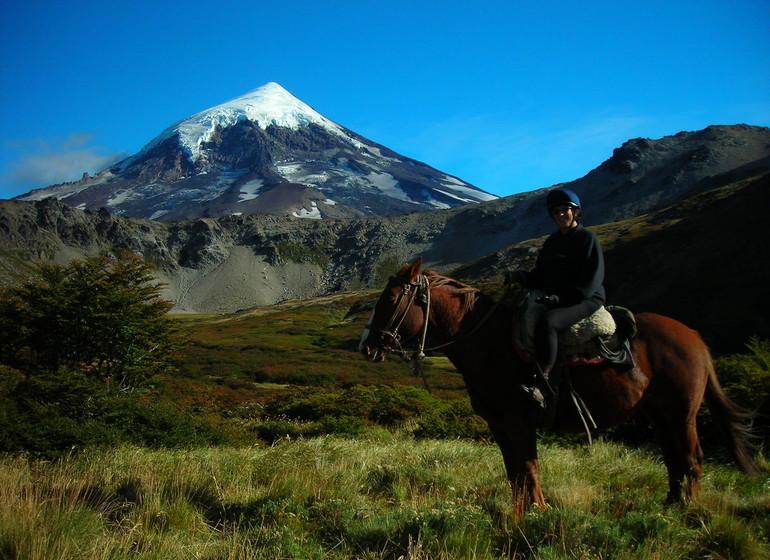 Argentine Voyage Patagonie Huechahue Ranch Volcan Lanín