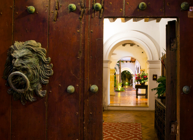 Colombie Voyage Cartagena Quadrofolio Hotel porte d entrée