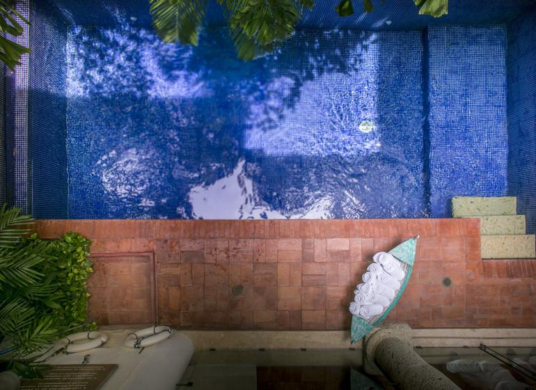Colombie Voyage Cartagena Quadrofolio Hotel piscine d'en haut