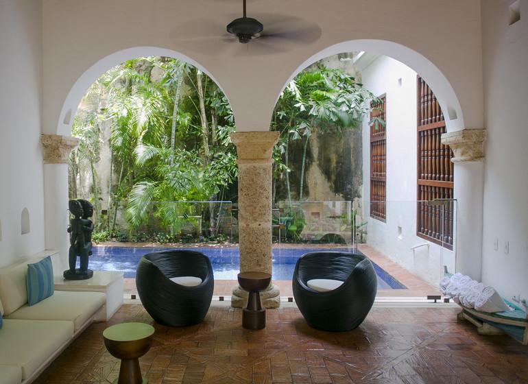 Colombie Voyage Cartagena Quadrofolio Hotel accès piscine patio