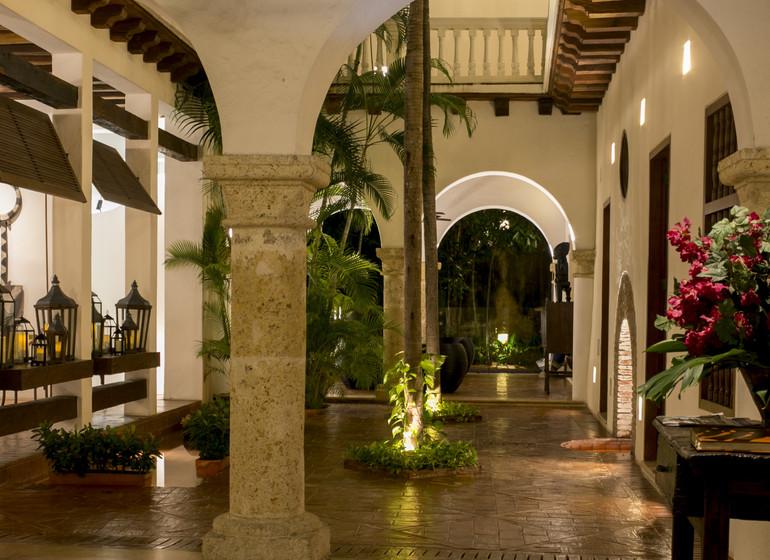Colombie Voyage Cartagena Quadrofolio Hotel lobby