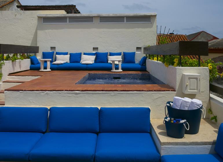 Colombie Voyage Cartagena Quadrofolio Hotel terrasse