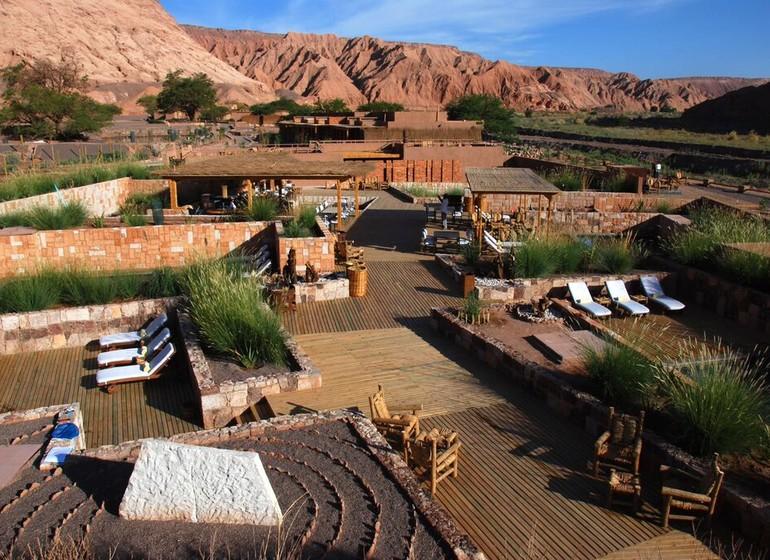 Chili Voyage Alto Atacama vue lodge avec piscines