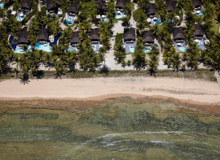 Brésil Voyage Balnéaire Muro Alto Nannai Beach vue du ciel