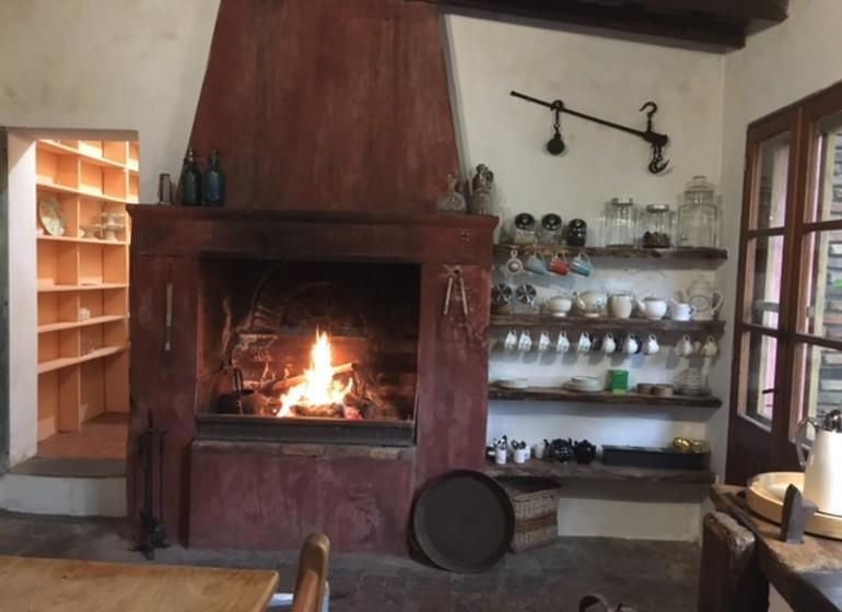 Uruguay Voyage Estancia La Vigna au cheminée