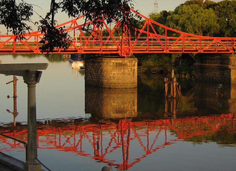 Uruguay Voyage pont sur le Rio de la Plata Carmelo