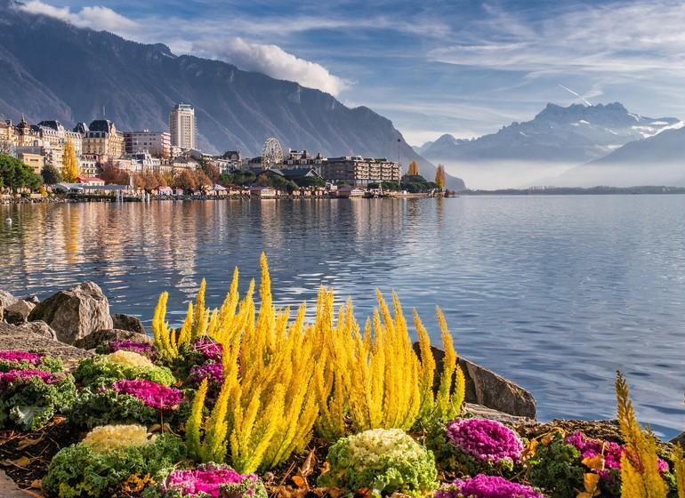 Voyage en Suisse village et canton Montreux et Vevey