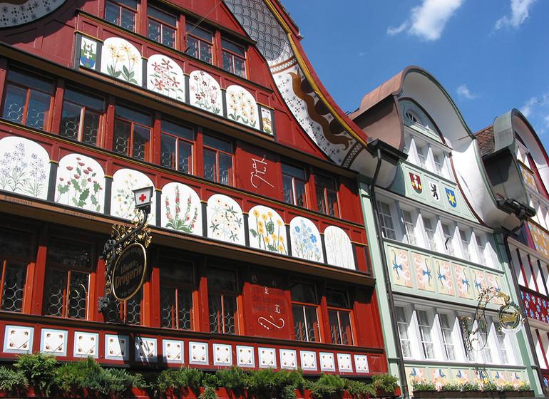 Voyage en Suisse village et canton Appenzell