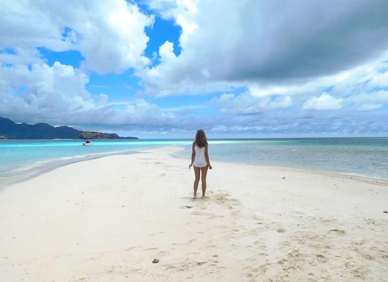 Excursion sur un îlot de sable blanc